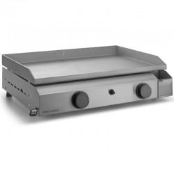 Plancha Gaz Forge Adour Base 2 Bruleurs 6400 W 60 cm Caisson et Plaque Inox