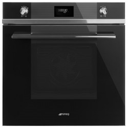 Smeg multifunction pyrolysis Design black stainless steel Elite electronic oven