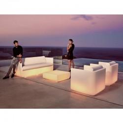 Table Basse Lumineuse ULM Vondom Blanche