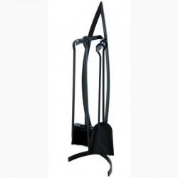 Serviteur Pirogue Noir Givré avec Accessoires Noirs Dixneuf Design