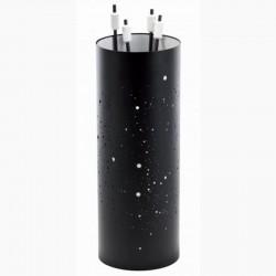 Serviteur Voie Lactée Noir Givré-Blanc avec Accessoires Noirs-Blancs Dixneuf Design