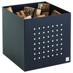 Storage in wood Alto black frosted Dixneuf Design