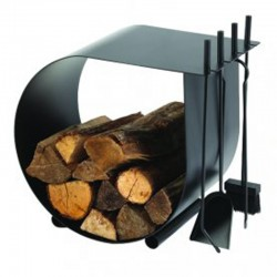 Servant and Caracol black log rack frosted Dixneuf Design