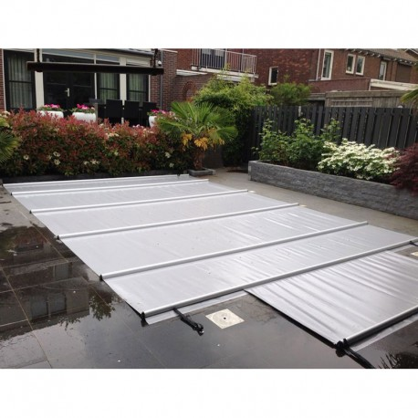 Couverture à barres de piscine CBE-650 10x5 gris