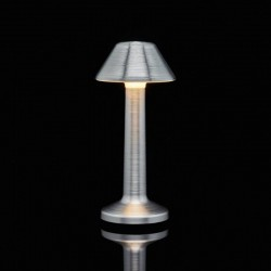 Table Light Imagilights Led Wireless Collection Silver Moments Cone