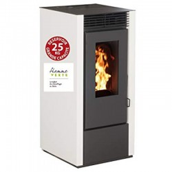 Interstoves 10Kw Economic Granule Stove with Marina White Remote Control