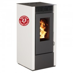 Interstoves 6Kw pellet stove with Marina Blanc remote control