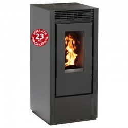 Interstoves 6Kw pellet stove with Marina Noir remote control