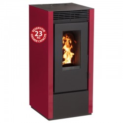 Interstoves 6Kw pellet stove with Marina Bordeaux remote control