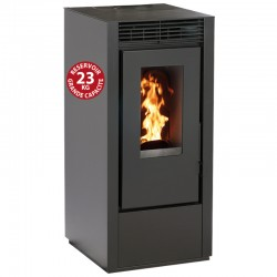 Interstoves 6Kw connected pellet stove with WiFi Marina Noir