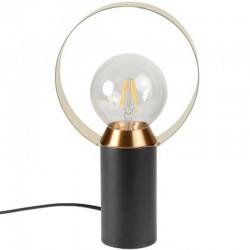 Black Metal and Gold Doop KosyForm Lamp