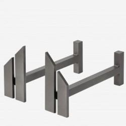 Chenets Senso Grey Steel Dixneuf Design