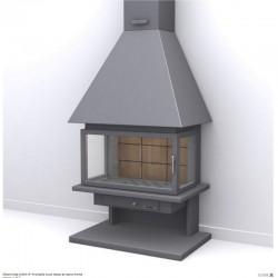 面福格鲁普钢烟囱和耐火砖