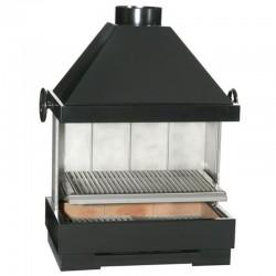 Barbecue Escalor Fiesta à Poser ou Encastrer en Briques Réfractaires et Acier avec Hotte