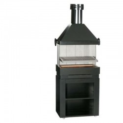 BarBecue Ferlux 在耐火砖和钢轧制家具与 Hotte