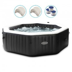 Spa Intex Carbone Bulles et Jets 4 Places Pure Spa
