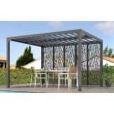 Lâminas orientais bioclimáticas pergola 11m2 e fachada brise-vue 3.6m