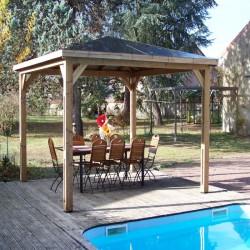 Kiosque de Jardin Blueterm en bois 12.32 m2 Habrita