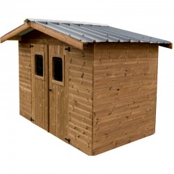 Habrita Solid Wood Garden Shelter 7.42 sqm with steel roof
