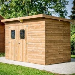 Theora Garden Shelter in Habrita Solid Wood 7.33 m2 with Onduline Roof