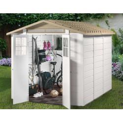 Habrita garden shed in EVO 240 resin of 4.90m2