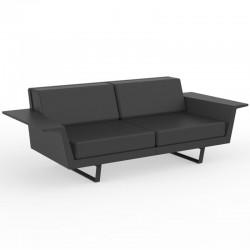 Canapé Vondom Delta sofa noir 2 places