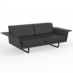 Canapé Vondom Delta sofa anthracite 3 places
