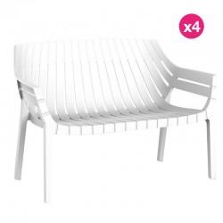 Set of 4 sofas Vondom Spritz white