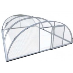 Pool shelter in Aluminum and Polycarbonate 394 x 642 x 132