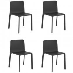 Lot de 4 chaises Vondom Kes noir