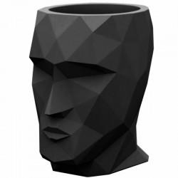 Bac à fleurs Adan Vondom grand modèle hauteur 100 noir