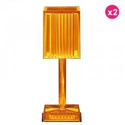 Set of 2 Lamps Gatsby Prisma Amber Wireless Vondom Led