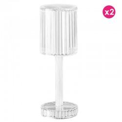 Set of 2 Lamps Gatsby Cilindro Crystal Wireless Vondom Led