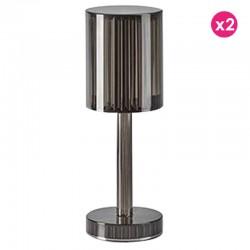 Set of 2 Lamps Gatsby Prisma Smoke Wireless Vondom Led