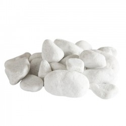 Galets Design Blanc de sable (Lot de 10)
